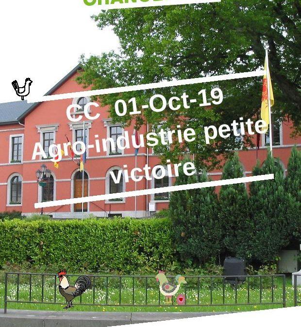 CC 01 Oct 2019 Agro-industrie petite victoire